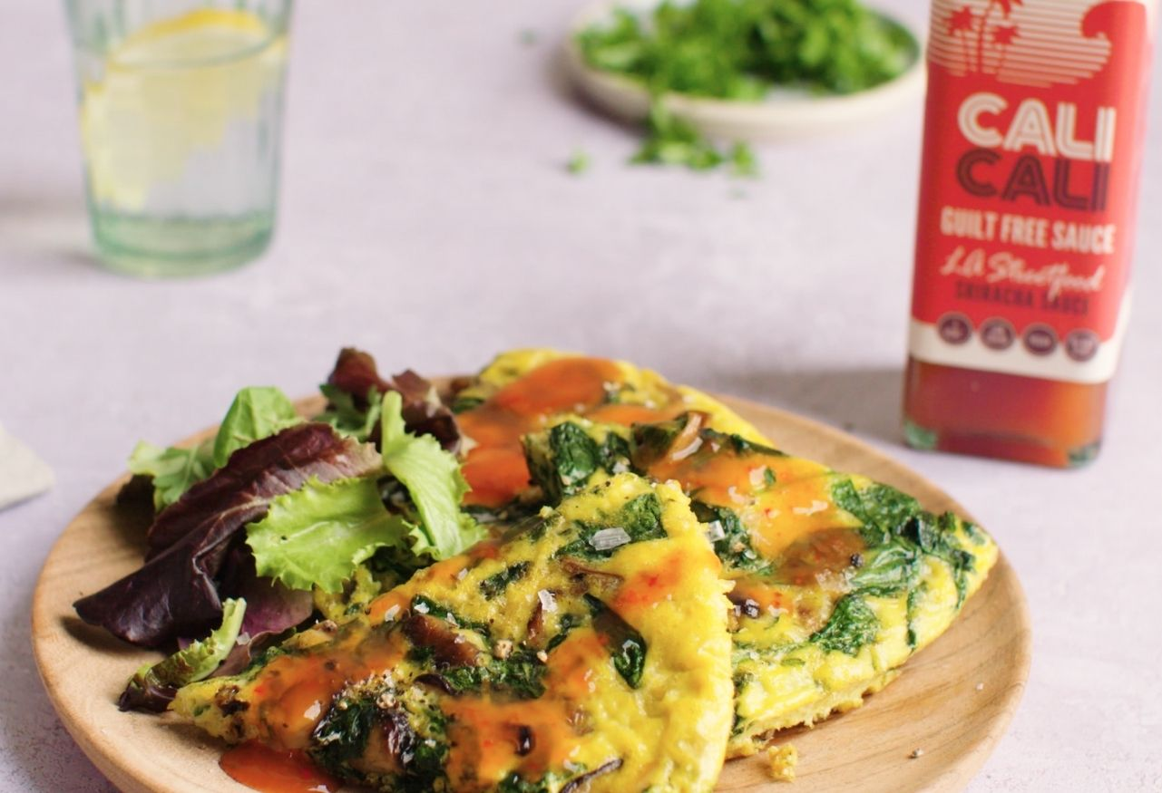 Wild Mushroom and Spinach omelette